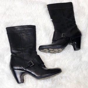Born Crown | zip up heeled booties acorn sole